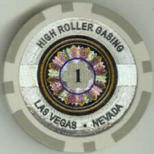 9pc 9 colors HIGH ROLLER CASINO LASER poker chip samples #202