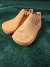 Pair Vintage Wood Infant Child's  Size 1 D Shoe Factory Industrial Mold Last