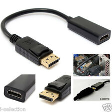 New Displayport Display Port DP Male to HDMI Female Adapter Converter Cable 25cm