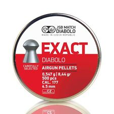 JSB MATCH DIABOLO EXACT AIRGUN AIR RIFLE AMMUNITION PELLETS .177cal 4.52mm 500pc