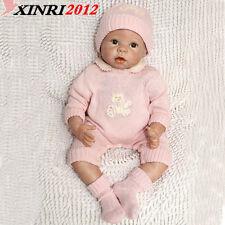 Reborn Baby Doll Full Silicone Vinyl Body Girl Doll Children gift Pretend Play