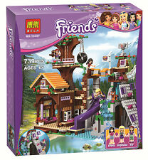 Friends girl's gift  Adventure Camp tree house   #10497  Castle  739pcs fit lego