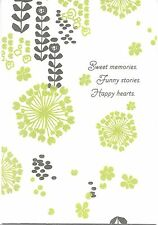 Happy Anniversary Green Velvet Flowers Sweet Memories Hallmark Greeting Card
