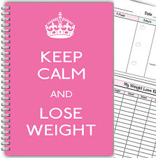 DIET DIARY 3 MONTHS FOOD TRACKER /DIET LOG SLIMMING & WEIGHT LOSS/KEEP CALM LW P