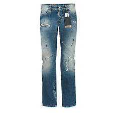 DSQUARED2 $660 womens slim fit distressed dsquared faded blue denim jeans 42 NEW