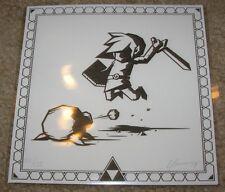 BRUCE YAN Legend Of Zelda Link poster letterpress print bottleneck gallery