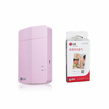 LG Pocket Photo3 PoPo PD251 Portable Mobile Printer + Zink 30 Sheets Pink