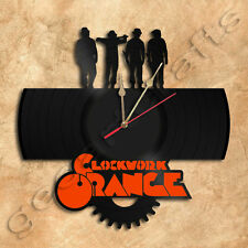 Clockwork Orange Vinyl Record Clock home decoration