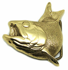 Fish Belt Buckle Fishing Solid Brass Authentic Branded Baron Buckles Product