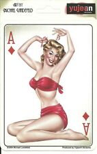 Sexy ACE OF DIAMONDS GIRL Pinup Sticker Decal