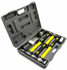 7pc Fiberglass Auto Body Repair Fender Hammer Dolly Dent Bender Tool Kit W/ Case