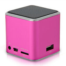 Mini Enceinte Haut Parleur Speaker USB Micro SD TF Carte pour MP3 MP4 PC Fuschia