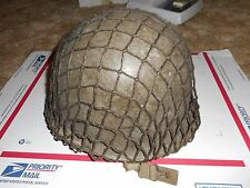 French M51 steel helmet and liner w/ net like US M1 WWII version !!!