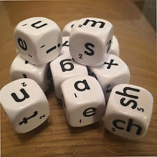 Jumbo Alphabet Educational Dice Lowercase Letters 12 Six Sided 22mm (D120)