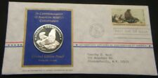 1972~~FUR SEAL SILVER MEDAL~~POSTMASTERS 1st  DAY  ISSUE~~WARM SPRINGS, OR.