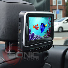 "Plug-and-Play Car 7"" HD Headrest DVD Player/Screen USB/SD Land/Range-Rover Sport"