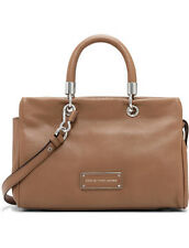 MARC BY MARC JACOBS TOO HOT TO HANDLE COFFEE LEATHER LARGE TOTE