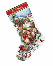 Cross Stitch Kit ~ Gold Collection Santa's Journey Christmas Stocking #8752