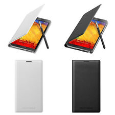 Genuine Wallet Flip Cover Case for Samsung Galaxy Note 3 (White & Black Bundle)