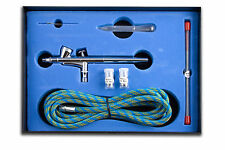 PRECISION DOUBLE ACTION GRAVITY FEED AIRBRUSH KIT WITH HOSE - AB-207K - NEW