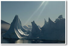 Antarctica Iceburg - Global Warming Science Ecology Classroom Print - NEW POSTER