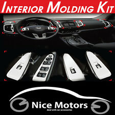 Chrome Interior Molding Kit 14Pcs 1Set For KIA Sportage 2011 2012 2013 2014 +