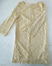 *NWT* FOREVER 21 SUMMER MID-SLEEVE LACE DRESS CREAM- SIZE S/P T16 A1