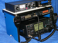 Ham Radio Bench Mount Rack Stack or Holder Kenwood Yaesu Icom Mike Antenna CB