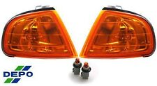 92-96 Honda Prelude JDM Amber Corner Side Park Parking Lights DEPO Pair Signal