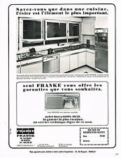 PUBLICITE  1966   FRANKE   éviers inoxydables