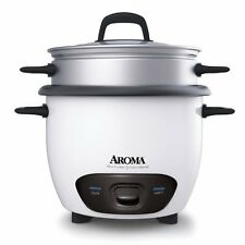 Aroma 6-Cup (Cooked)  (3-Cup UNCOOKED) Pot Style Rice Cooker and Food Steamer...