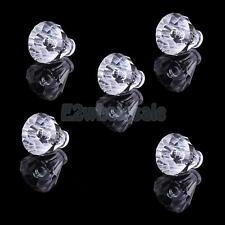 5x 19mm Acrylic Faceted Small Drawer Handle Knob for Cabinet Furniture Hardware