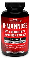 D-Mannose Capsules - 600mg D Mannose Powder per Capsule with Cranberry and for -