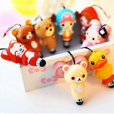 Cute Cartoon Phone Capacitive Tablet Stylus Pen With Dust Plug Function Trendy