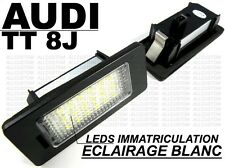 AUDI TT 8J 06-14 LEDS LED SMD ECLAIRAGE BLANC XENON PLAQUE IMMATRICULATION