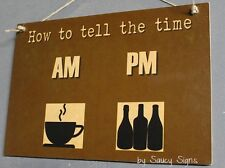 How To Tell The Time Coffee Wine Beer Sign - clock bar pub drink cafe glass cup