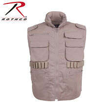 Desert Khaki Tan Ranger Military Tactical Ranger Vest With Hood  XL ROTHCO 6551