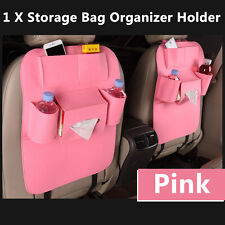 Auto Car Seat Back Multi-Pocket Storage Bag Organizer Holder Accessory New Pink