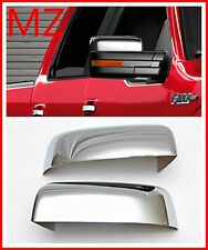 09-14 Ford F150 Pickup Truck Chrome Door Rear View Top Mirror Cover Set Pair Cap
