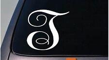 """LETTER T 6"""" monogram sticker decal truck car window teach craft initials *D791*"""