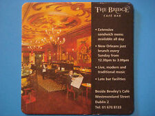 Beer Coaster Pub Mat ~*~ GUINNESS Stout ~ The Bridge Cafe Bar ~ Dublin, IRELAND