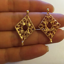 2 pendants charms gold links connector jewellery making finding earring UK 28mm