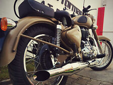 Red Rooster Performance Exhaust - Royal Enfield Classic 500/350 - Matte finish