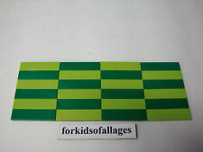 24 Bulk Lego 1x4 FINISHING TILES PLATES Smooth Flat Green & Lime Floor Bed Table