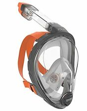 Ocean Reef Aria Full Face Snorkeling Mask Anti-fog Snorkel Extra Small Grey