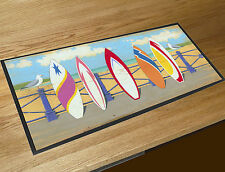 Martin Wiscombe Beach five Surf boards bar runner home bar counter mat