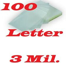 Laminating Pouches Sheets 100/pack Letter Size 9 x 11-1/2   3 Mil