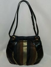 BODHI NWT Concrete Jungle Patchwork Black/Gold/Copper Medium Tote Bag Purse $228