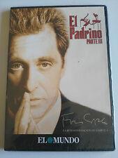 EL PADRINO PARTE III DVD SLIM AL PACINO FRANCIS FORD COPPOLA ESPAÑOL NEW NUEVA