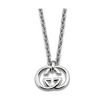 Gucci Silver Britt Collection Necklace 19.6 inch Ybb190484001